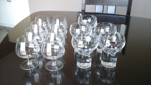 Crystal wine and  Cognac Glasses. Christmas Extras.