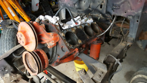 Chev 327 engine for sale Camel Back heads GM power steering box