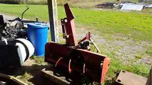 Snow blower for compact tractor