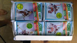 1991 unopened hockey cards. Full box