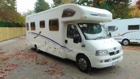 Lunar Roadstar 786 6 berth rear fixed bed coachbuilt motorhome for sale