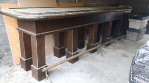 Antique Stand-up Bar w/Brass FootRail from 1970s BrunswickHouse