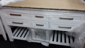 New 60 Inch OVE Bathroom double sink Vanity $600.