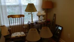 Lamps & rocking chair