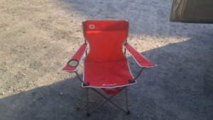 Folding red camping chair