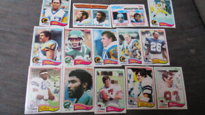 1982 Topps NFL cards(14)