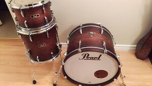 MINT Pearl Wood/Fiberglass (2016) 3-Piece Drum Kit -  $900 OBO