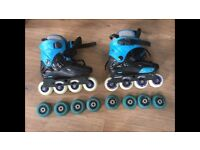 Skate boards with extra wheels