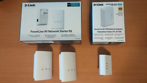 Powerline HighSpeed Network starter kit and extra adapter