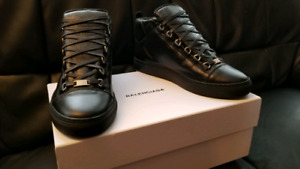 BALENCIAGA ARENA SHOES HIGH BLACK BRAND NEW IN BOX AUTHENTIC NEW
