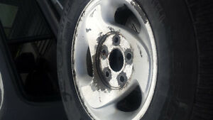 Tires  off of a  dodge and topper for a old long box ford London Ontario image 1