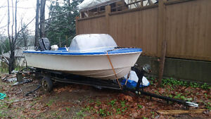 17 ft. Nice family lake boat with trailer
