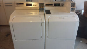 Maytag commercial coin frontload washer and dryer