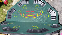 Poker Table Top/ chips and cards/New
