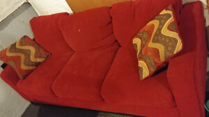 Sofa. Red. Couch