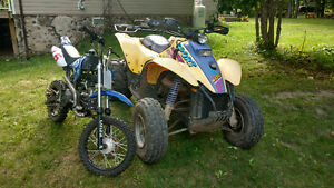 1996 Polaris sport 400 and a 125cc Orion pit bike