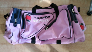 """36"""" Extra Large Pink with Black Gym Bag from Source for Sports"""