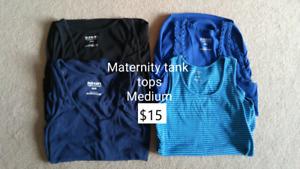 Maternity tanks and t-shirt, medium (5 pcs)