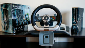 Xbox 360 S Halo 4 Edition + Racing Wheel/ Volant Prix Négociable