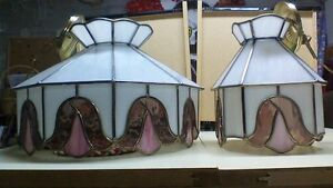 Vintage Stained Glass Hanging Light Fixtures