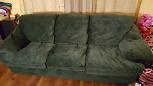 3 Seat Green Couch/Sofa (x2)
