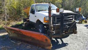 Ford F550 plow truck
