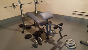 COMPETITOR WEIGHT BENCH FOR SALE!!! (All weights included)