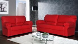 BRAND NEW SOFA LEATHER FABRIC CORNER OR 3 2 SEATER SET AVAILABLE