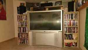 """Giant 50"""" TV with entertainment centre"""