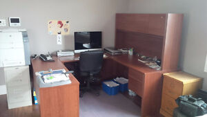 Office Desk and Storage Cabinet
