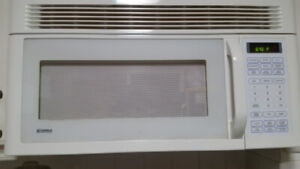 KENMORE OVER THE RANGE MICROWAVE  WITH HOOD FAN $50.