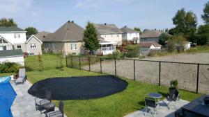 Toile de fermeture de piscine 24'/ pool closing tarp