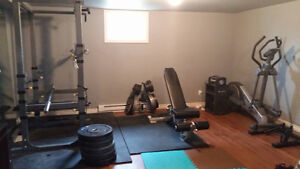 Home Gym: Squat Rack, Adjustable Dumbbells, Olympic Weight, Bars