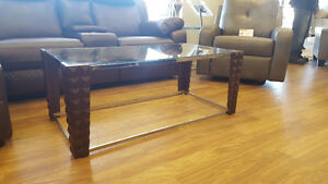Decorative Glass Coffee & End table