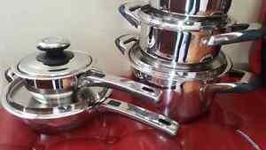 Pots and pans, cookware for sale, new, never used.