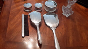Vintage 6 Piece Vanity Set - Stainless