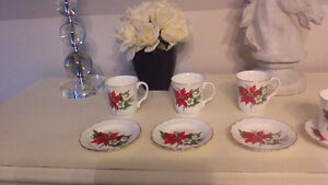 6 bone China tea cup and saucer set Kitchener / Waterloo Kitchener Area image 4