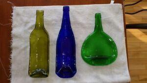 Flattened Wine Bottles