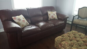 100%leather loveseat and sofa.Reduced