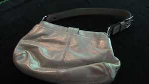 Summery hobo style authentic Coach silvery soft purse West Island Greater Montréal image 2