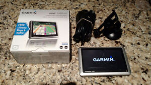 Garmin Nuvi 1350LMT GPS navigation unit.