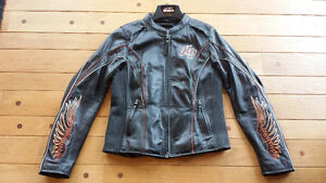 Women's Leather Harley Jacket - Size Small. Like New.