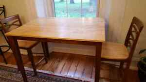 High Dining Table with 4 Matching Chairs $200 OBO Cambridge Kitchener Area image 3