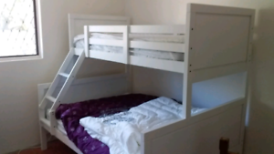 Double,single bunk bed includes maytresses excellent condition