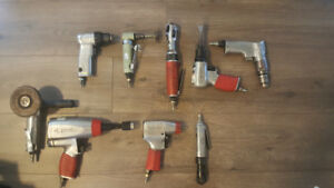 HUSKY AIR TOOL SET.  9 pcs $400
