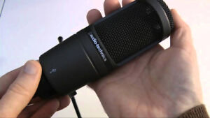 AT2020 USB Microphone for sale with shock mount