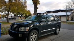 2004 Infiniti QX56 with Tow package, DVD player  and roof rack