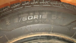 4 Winter Tires 215/60R16  with genuin GM rims