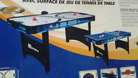 """NEW 66"""" Air Powered Hockey with Table Tennis Top"""