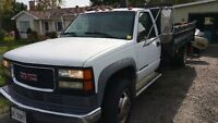 01 gmc 2ton dump With Parts Truck.